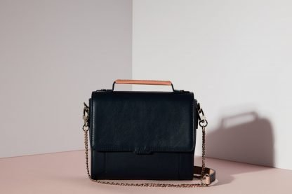 ELISE MINI SATCHEL BAG NAVY