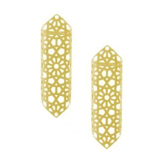Jaali Gold plated Earrings