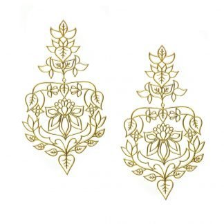 FLORAL GOLD PLATED EARRINGS