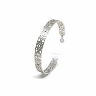 Jaali Thin Silver Cuff