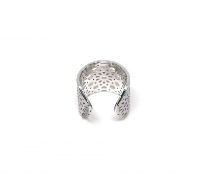 Jaali Thin Silver Ring