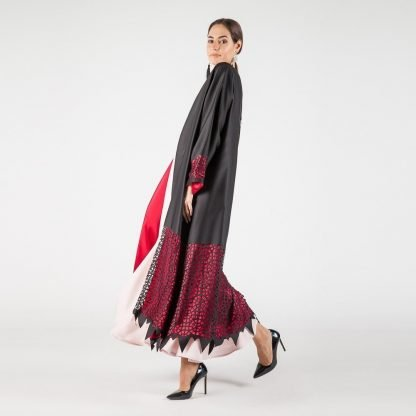 MYKAFTAN ROUGE ABAYA SLOW FASHION