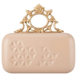 "CREAM HAND-CARVED WOODEN CLUTCH ""BAROQUE CREAM"""