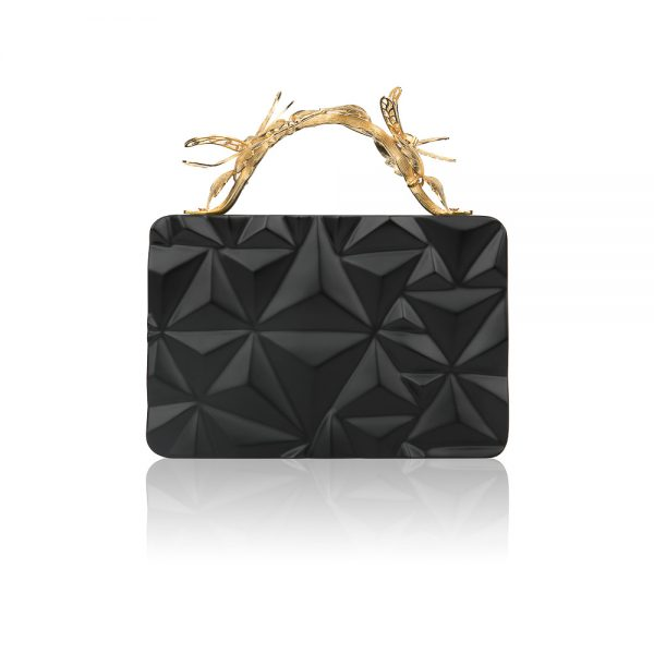 TRIANGLE WOODEN CLUTCH DUET LUXURY SLOW SUSTAINABLE FASHION