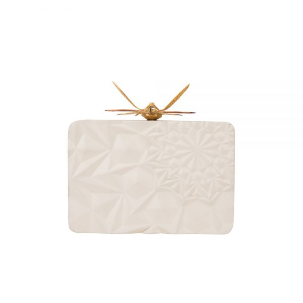 FLORAL WOODEN CLUTCH DUET LUXURY SLOW SUSTAINABLE FASHION