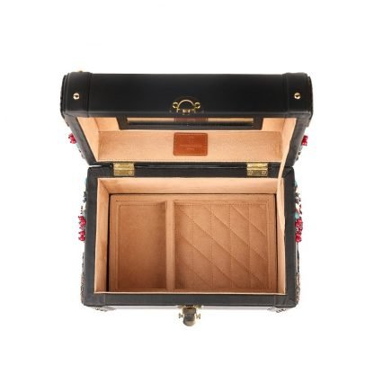 WOOD AND LEATHER VANITY BOX DUET LUXURY SLOW FASHION