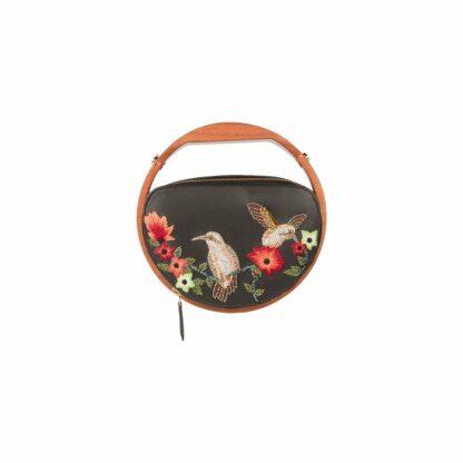 BIRDS WOODEN HANDLE BAG DUET LUXURY SLOW FASHION