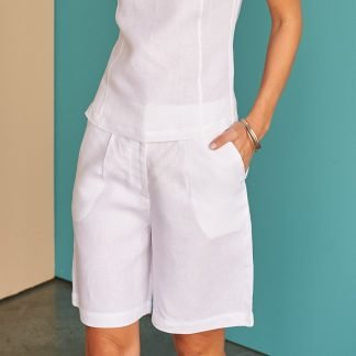 Laura Shorts Fácil blanco Dubai Sustainable Fashion
