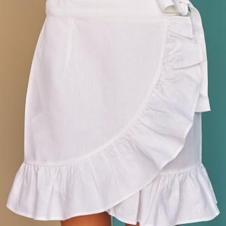 Lucya summer Skirt Fácil blanco dubai Sustainable Fashion