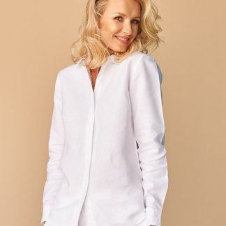 Martyna Linen Shirt Facil blanco Dubai Sustainable Fashion