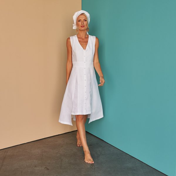 Nayma Dress summer dress fácil blanco Dubai Sustainable Fashion