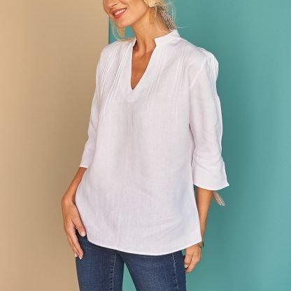 Nyda white top fácil blanco dubai Sustainable Fashion