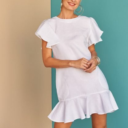 Ynes Dress Facil Blanco Dubai Sustainable Fashion