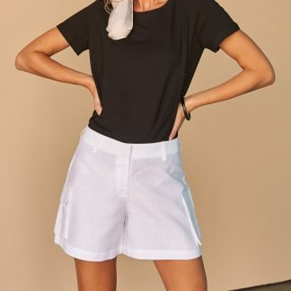 Ysabella Shorts Facil Blanco Dubai Sustainable Fashion