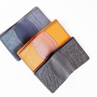 Camel Leather Compact Wallet