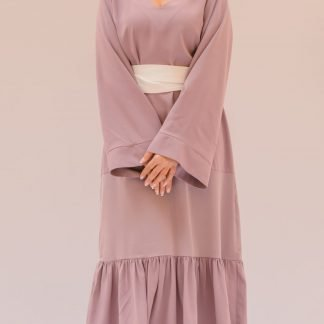 Lilac Kaftan Dress Slow Fashion