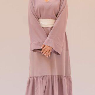 Lilac Kaftan Dress Slow Fashion