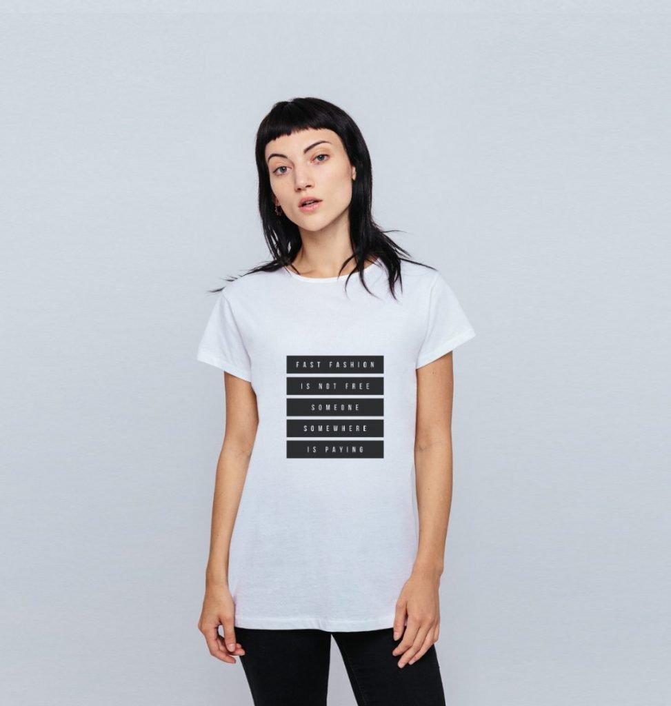 FAST FASHION ISNT FREE TSHIRT, best organic cotton tshirts