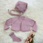 Delicate Crochet Set of Baby Clothes Slow Fashion