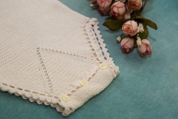Delicate Crochet Infant Onesie Slow Fashion
