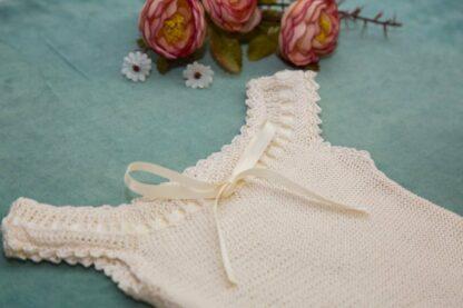 Delicate Crochet Infant Bodysuit Slow Fashion
