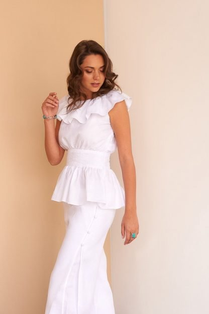Adela Top Facil Blanco Dubai Sustainable Fashion