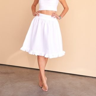Aryana Skirt Facil Blanco Sustainable Fashion