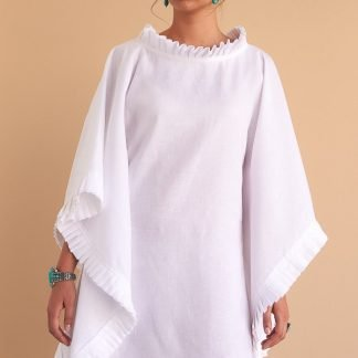 Asma Kaftan Facil Blanco Sustainable Fashion