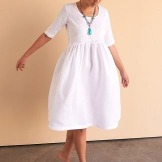 Aya Dress Facil Blanco Sustainable Fashion