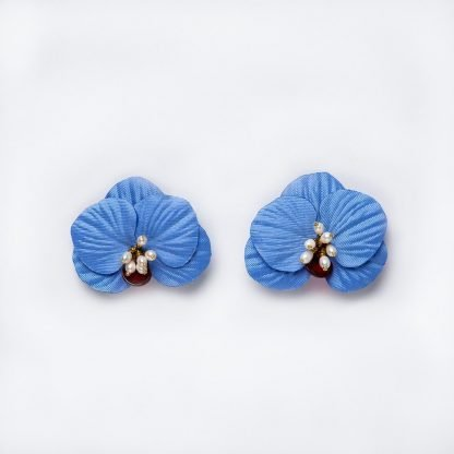 Orchid Detachable Earrings Farah Abu Sustainable Fashion