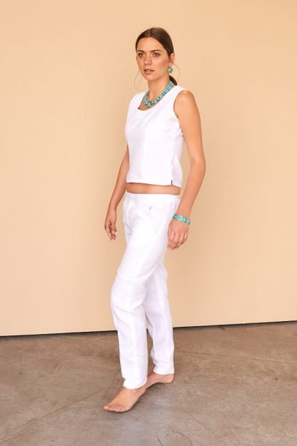 Cynthya Pants Facil Blanco Sustainable Fashion
