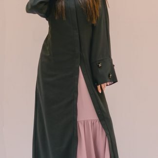Sleeve Embellished Black Abaya Slow Fashion