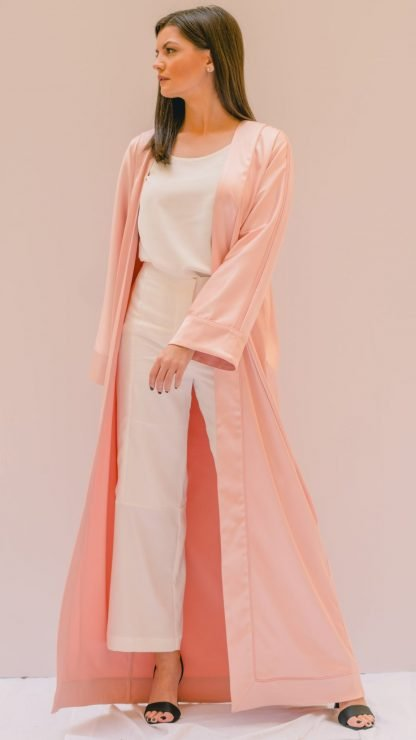 Minimal Tonal Abaya Stone Gray Slow Fashion