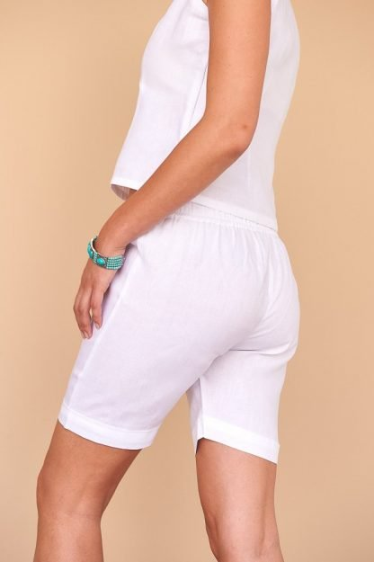 Gaby Shorts Facil Blanco Sustainable Fashion