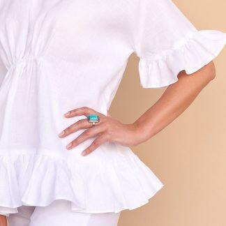 Hala Blouse Facil Blanco Sustainable Fashion