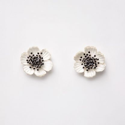 Flower Detachable Earrings Farah Abu Sustainable Fashion