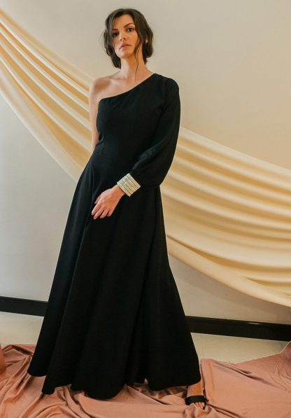 Beckette One shoulder dress slow fashion