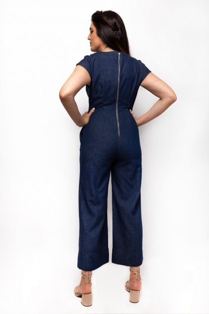 denim jumpsuit back