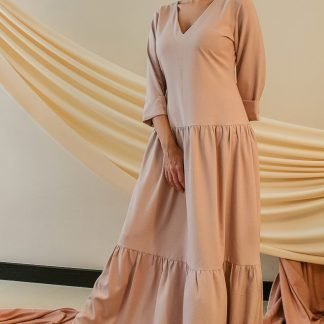Kiara peach maxi dress slow fashion