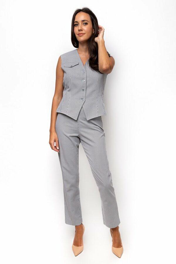 cotton pinstriped vest