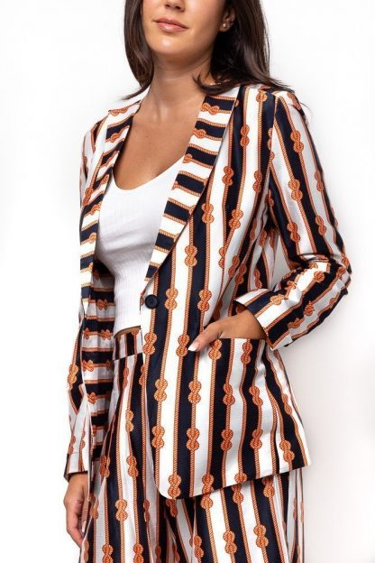 REEF KNOT PRINT JACKET FRONT