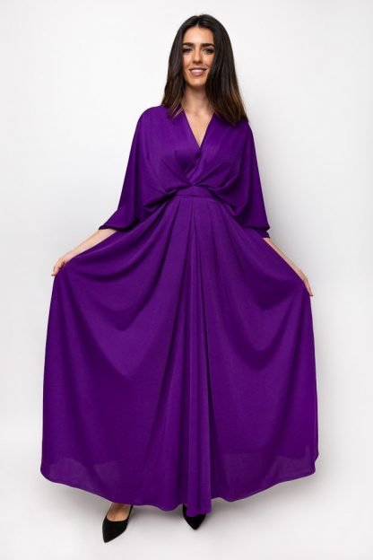 Purple dress essa walla slow fashion