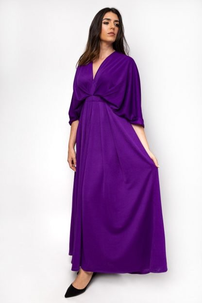 Purple gown slow fashion