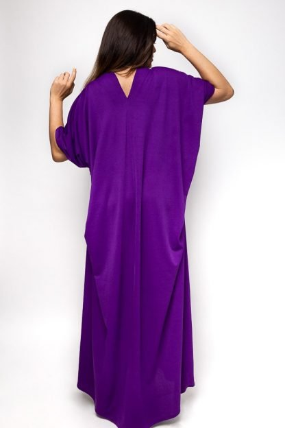 purple abaya
