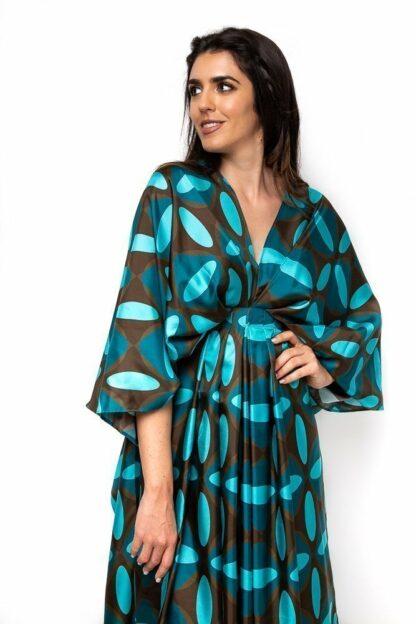 Turquoise vintage dress essa walla slow fashion