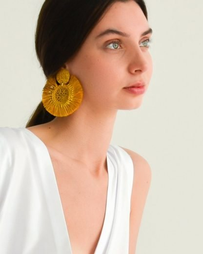 VERBENA MADRID RAFFIA EARRINGS SUSTAINABLE EARRINGS