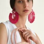 Pipa earrings raffia sustainable accessories