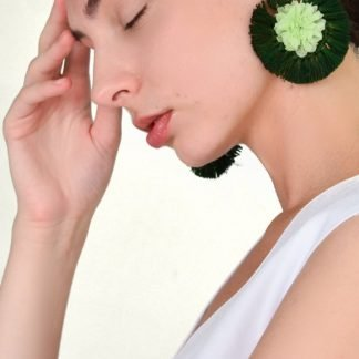 anis viana green earrings sustainable