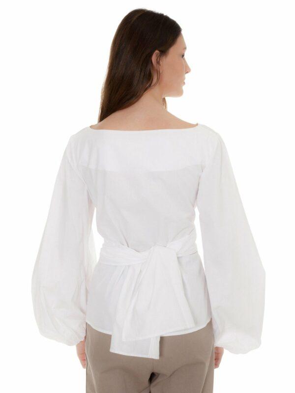 white blouse with bow castano de indias sustainable fashion