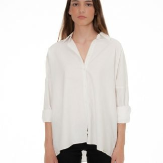 oversized blouse with beige dots castano de indias sustainable fashion